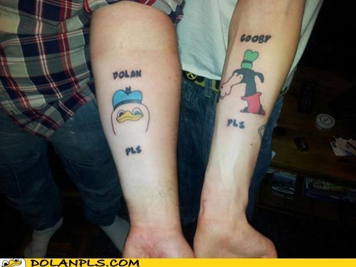 double trouble gooby IRL Memes tattoo - 6411277824