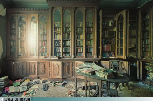 abandoned,bookcase,books,old,shelves