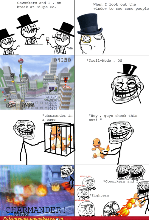 charmander rage comic Rage Comics silph-company super smash bros