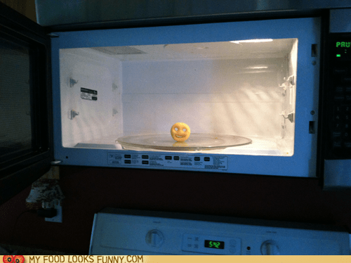 creepy fry instant microwave potato smiley snack