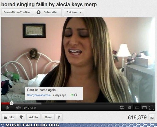 alecia keys,bored,comment,merp,youtube,youtube comment