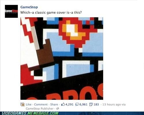 facebook gamers gamestop mario stupid the internets wtf - 6411405568