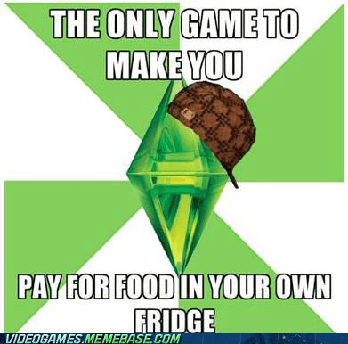 food meme scumbag sims The Sims