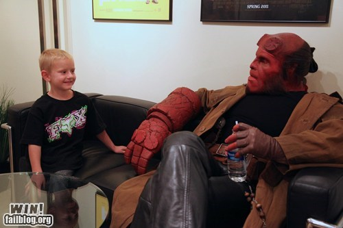 best of week,completely relevant news,g rated,Hall of Fame,hellboy,make a wish,Ron Perlman,win