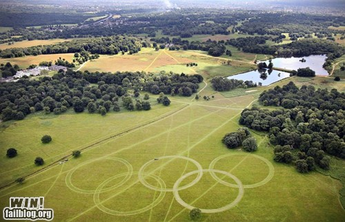 design lawn lawn mowing olympic rings olympics