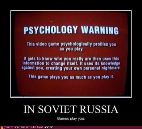 in soviet russia video games wtf