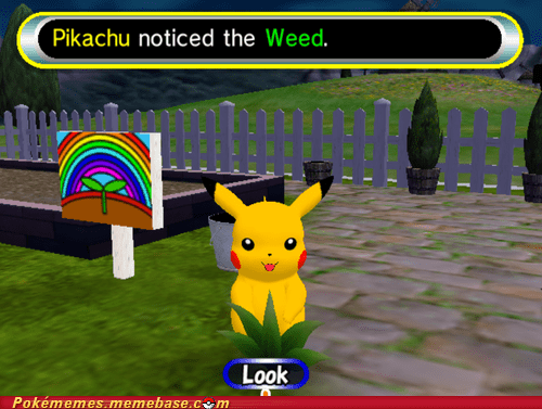 gameplay look pikachu Pokémemes weed - 6411531008