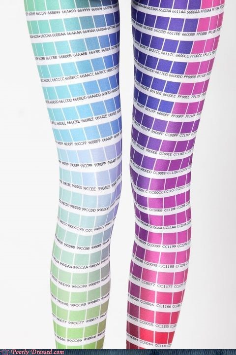 best of week colors Hall of Fame leggings pantone pretty colors tights