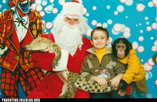 clown lizard monkey santa clause