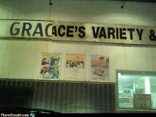 grace,graces-variety,store sign