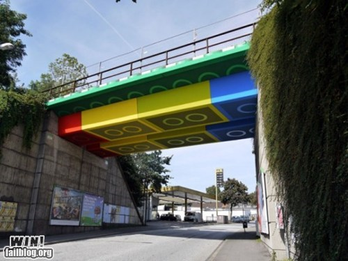 bridge,hacked irl,lego,Street Art