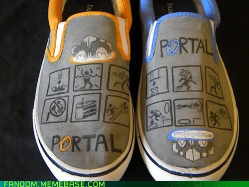 Fan Art,Portal,shoes,video games