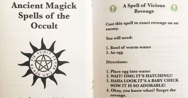 funny books of magic and spells