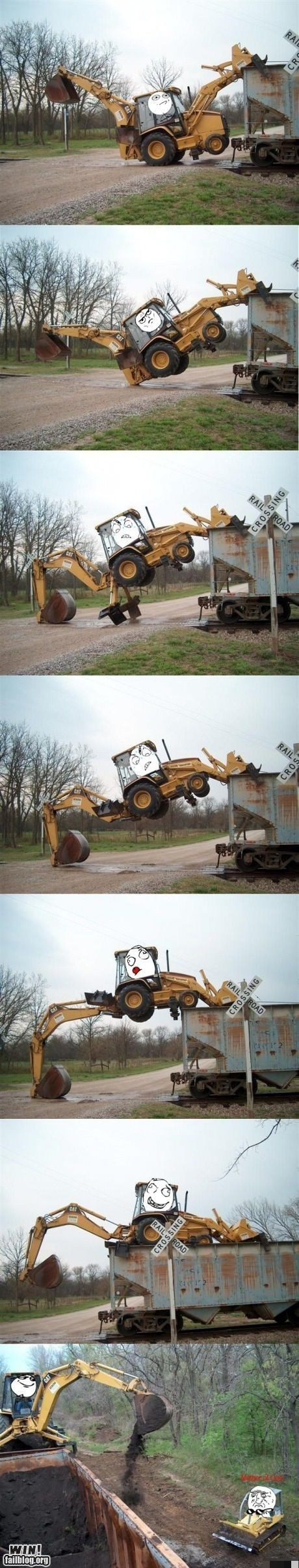 climbing construction equipment Like a Boss rage faces
