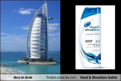 building,burj al-arab,funny,head and shoulders,shampoo,TLL