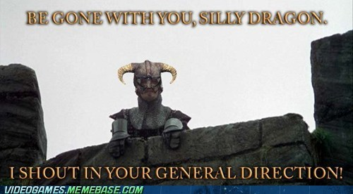 best of week,monty python,Movie,silly dragon,Skyrim,the internets,video games