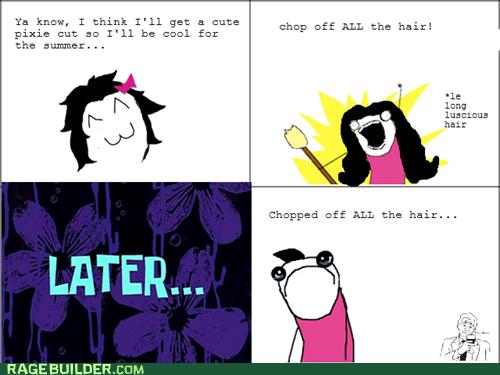 all the things hair none of the things Rage Comics - 6412694016