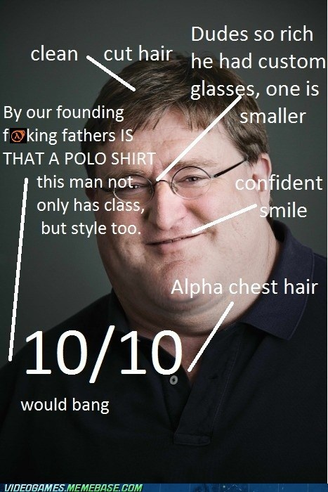 gabe newell,gaben,meme,valve,would bang