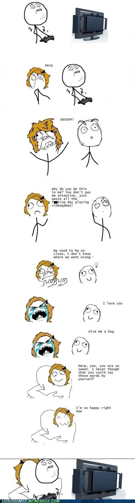 couple hug rage comic relationships