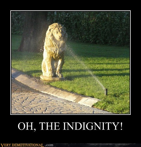 hilarious,indignity,lion,statue