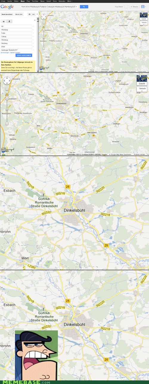 dinkleberg Germany google maps Memes - 6412928000