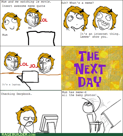 facebook parenting Rage Comics table flip - 6413069056