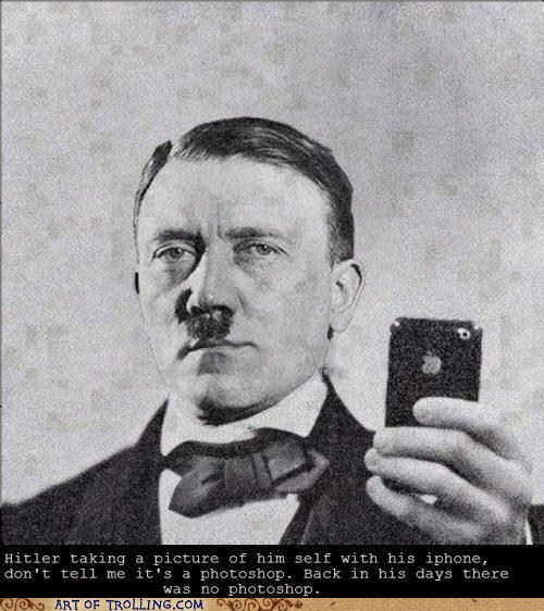 hitler,iphone,photoshop