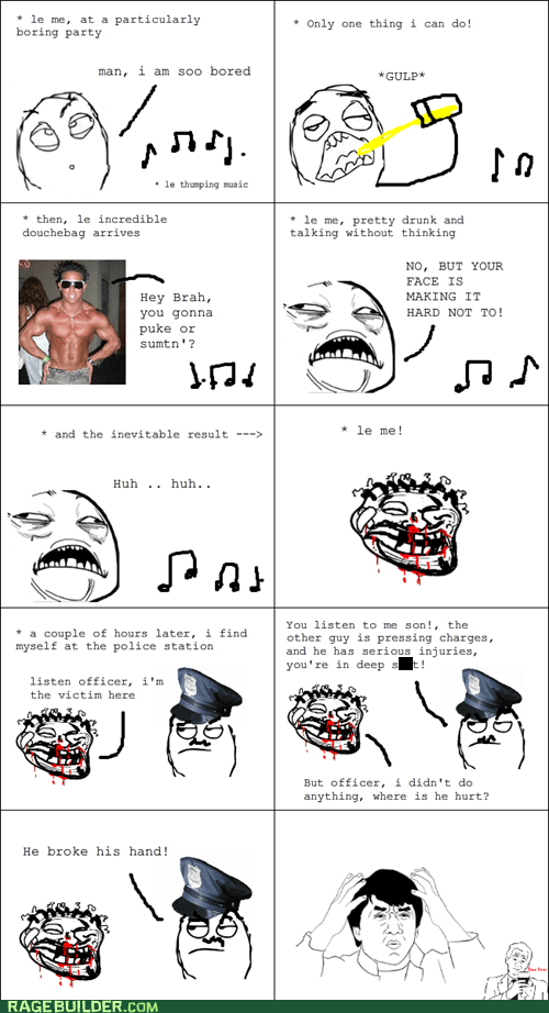 drunk Party Rage Comics wtf - 6413135872