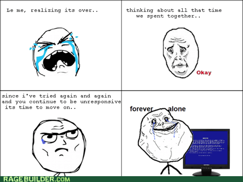 bsod,computers,forever alone,Okay,Rage Comics