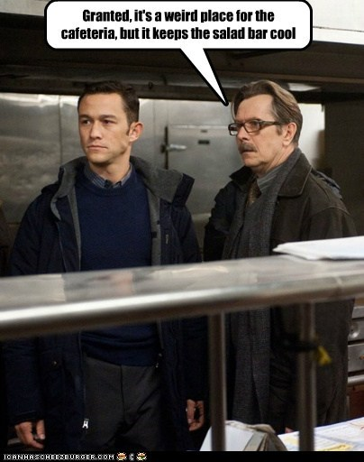 actor celeb funny Gary Oldman Joseph Gordon-Levitt summer blockbusters the dark knight rises - 6413339904