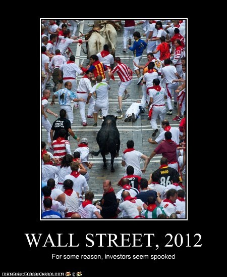 WALL STREET, 2012 For some reason, investors seem spooked