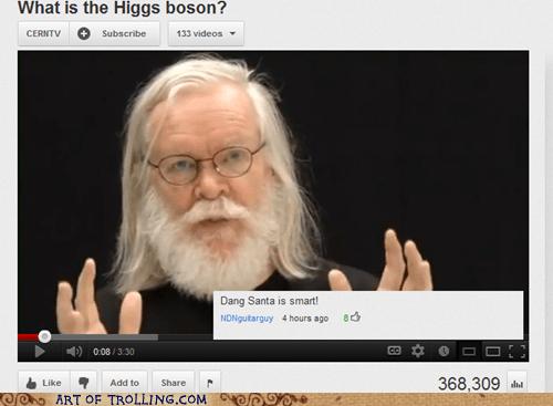 higgs boson,santa,science,youtube