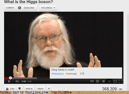 higgs boson santa science youtube - 6413519104