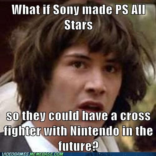 conspiracy keanu crossover meme playstation all-stars