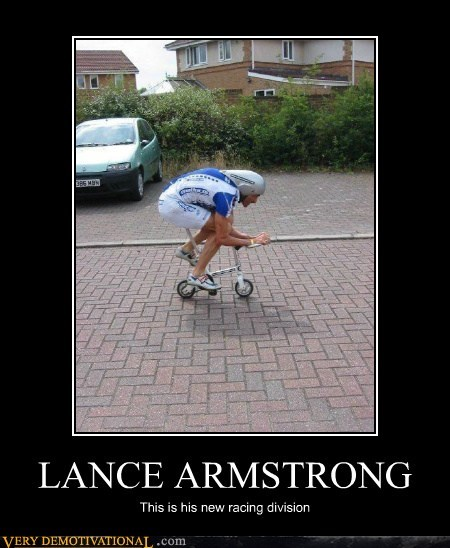 LANCE ARMSTRONG This is his new racing division