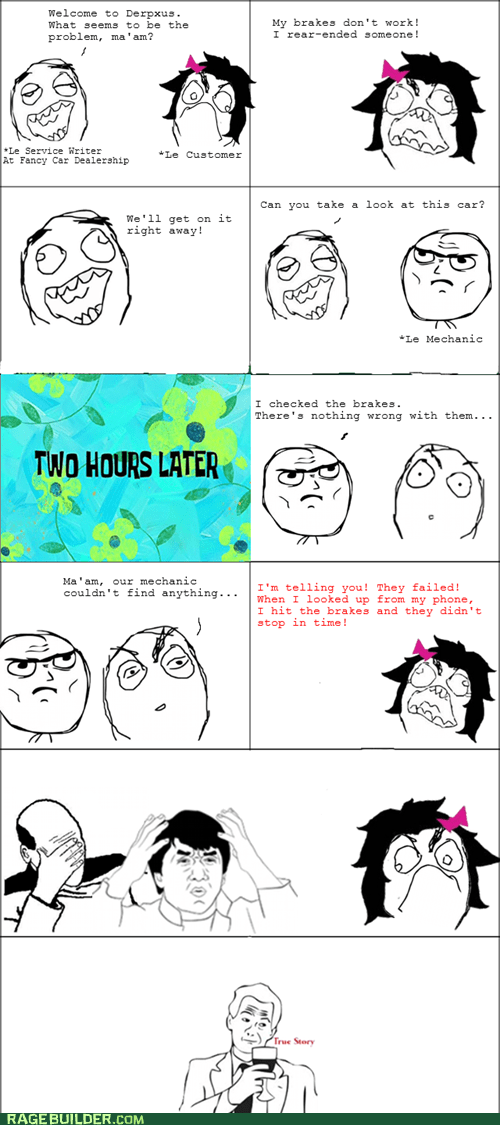 brakes driving dumb Rage Comics - 6413899520
