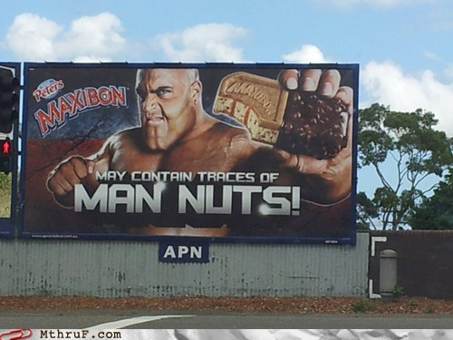 billboard man nuts maxibon