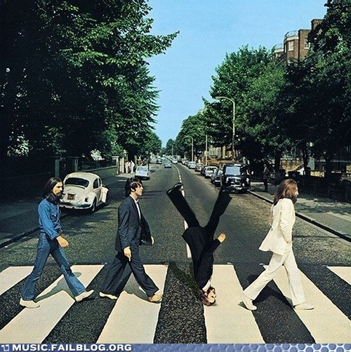 abbey road Ringo the Beatles upside down