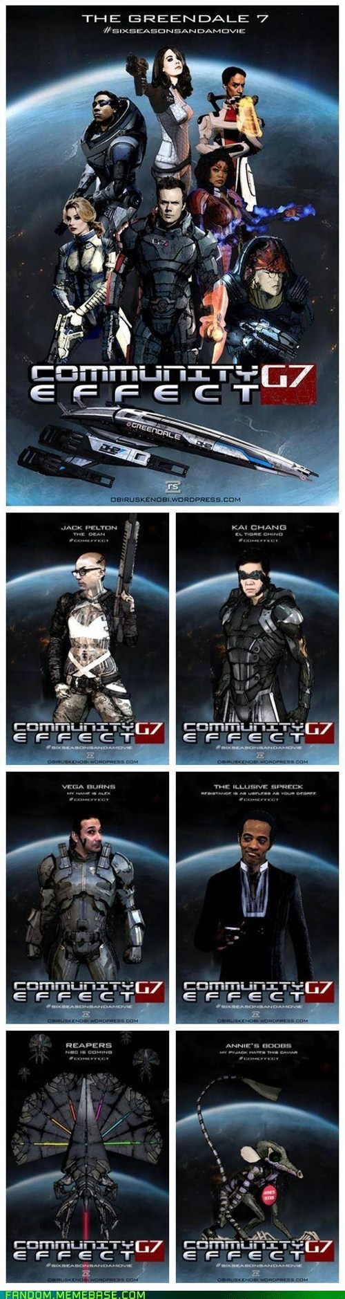 community,crossover,Fan Art,mass effect,TV,video games