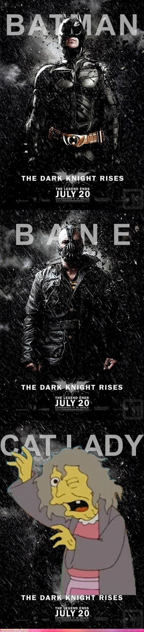 actor animation batman celeb christian bale funny Movie poster summer blockbusters the dark knight rises the simpsons tom hardy TV - 6414226176