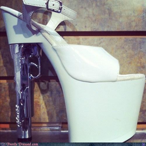 gun heels platforms shoes - 6414274560