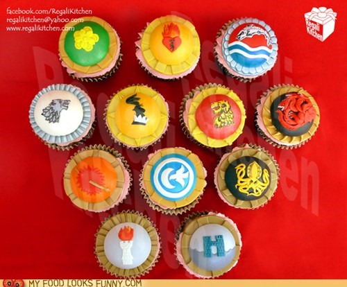 cupcakes Game of Thrones opening credits sigils TV