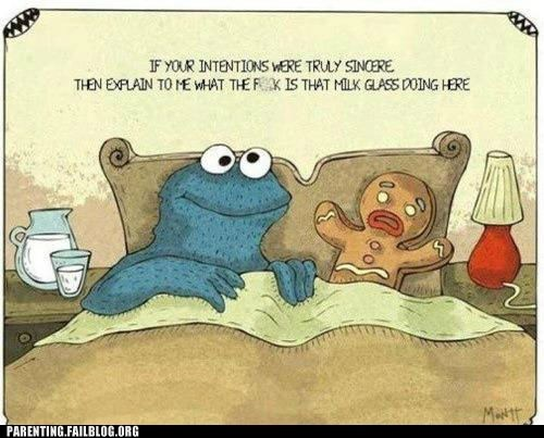 comic Cookie Monster milk - 6414498048