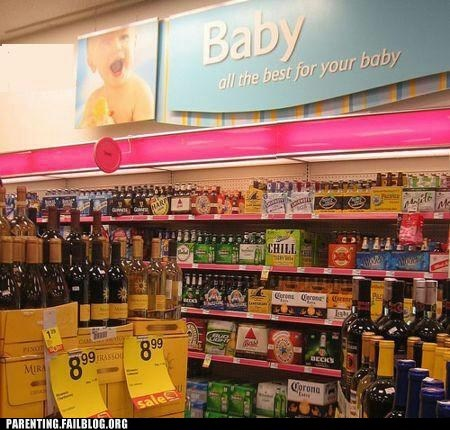 baby aisle,beer aisle,funny signs,grocery store