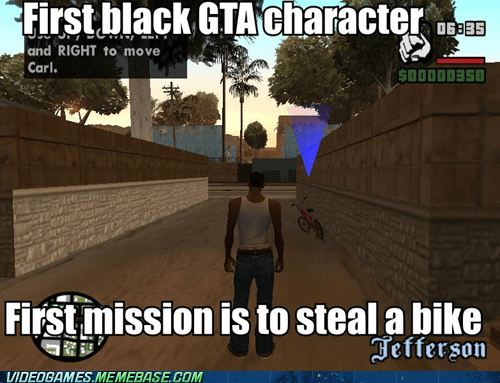 best of week,gameplay,Grand Theft Auto,racist,rockstar,stealing a bike