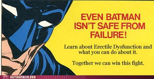 batman erectile dysfunction failure learn about ED win this fight