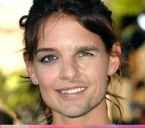 actor celeb face morph face swap funny katie holmes Tom Cruise wtf