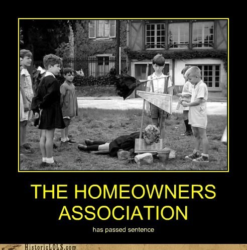 guillotine,harsh,homeowners association,kids,killing