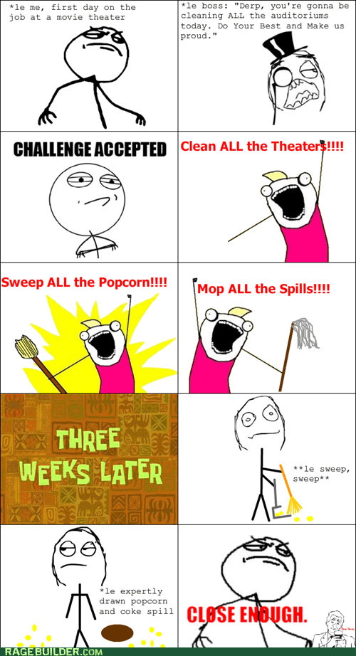 all the things Challenge Accepted Rage Comics work - 6414695168