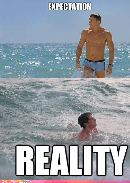actor celeb Daniel Craig expectation vs reality funny james bond sexy - 6414700800